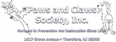 A Link to Paws and Claws Society website